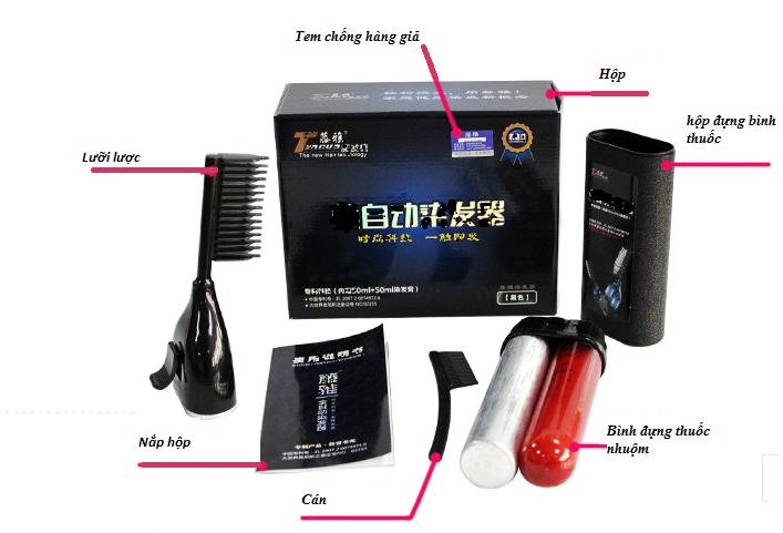 Lược nhuộm tóc thông minh Tengya thế hệ mới được cấp bằng sáng chế Quốc gia