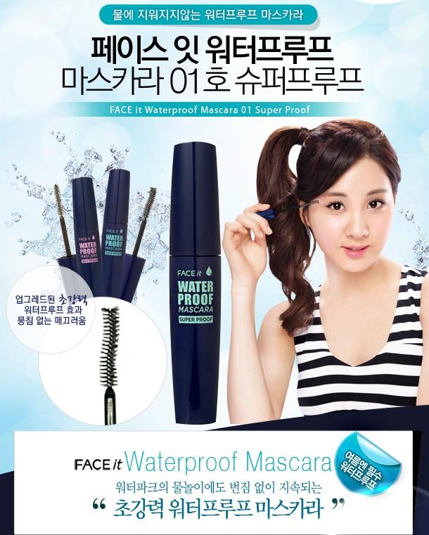 Mascara The Face Shop Face it Waterproof chải mi không trôi