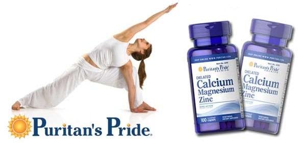 Viên uống canxi, kẽm và magie Puritan's Pride Calcium Magnesium Zinc giúp bổ sung hàm lượng các khoáng chất chính có ảnh hưởng quan trọng đến sức khỏe và sự phát triển của hệ xương