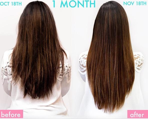 Sự thay đổi đang kinh ngạc của tóc chỉ sau 1 tháng sử dụng