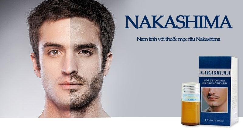 Nakashima có tác dụng hầu hết những vùng da có xuất hiện lỗ chân lông hoặc thưa lỗ chân lông
