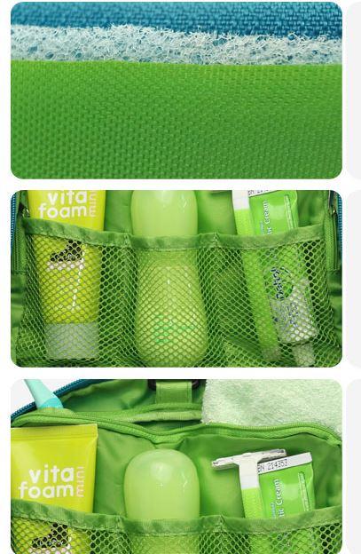 Các ngăn bên trong của túi đựng mỹ phẩm Msquare