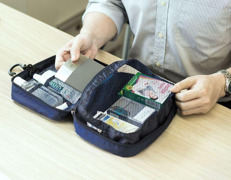 Chiếc túi được chia làm nhiều ngăn tiện lợi đựng đồ cá nhân cho nam với thiết kế hợp lý của Msquare