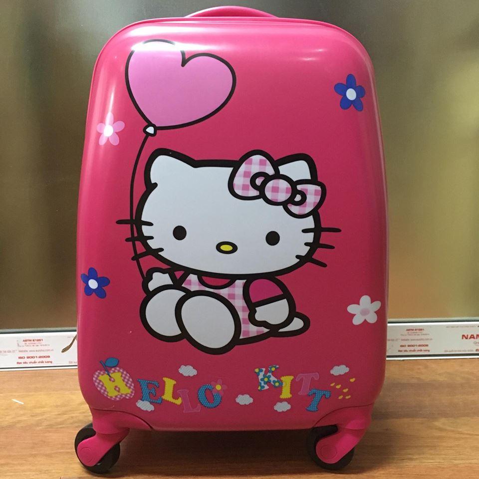 Vali kéo trẻ em Hello Kitty hình chữ nhật 2