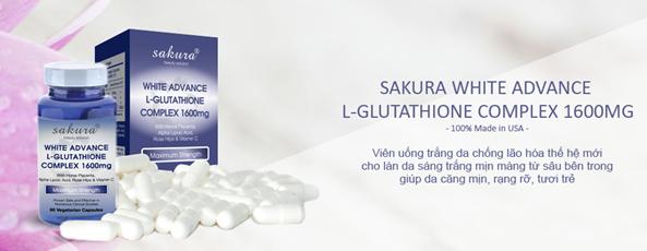 Viên uống trắng da Sakura White Advance 4