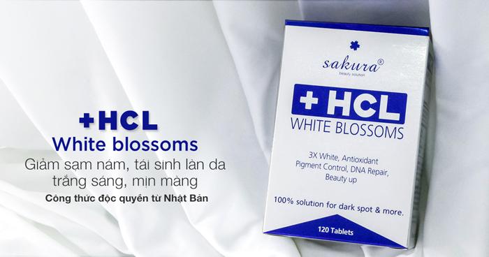 Viên uống trắng da điều trị nám Sakura HCL White Bolssoms 1