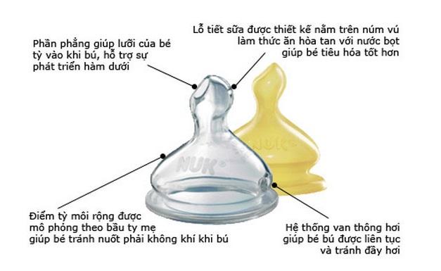 Bình sữa Nuk cổ rộng 150ml bình nhựa, núm Silicone