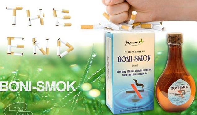 Boni smoking tỷ lệ cai thuốc lá thành công cao
