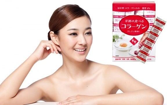Collagen Hanamai pig bổ sung axit amin, khoáng chất, chất keo cần thiết cho cơ thể, giúp da căng mịn