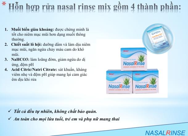 Hỗn hợp muối rửa mũi Nasal Rinse hộp 25 gói
