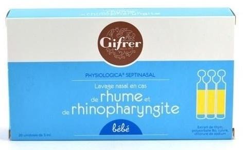 Nước muối Physiologica Pháp kháng viêm hộp 20 ống
