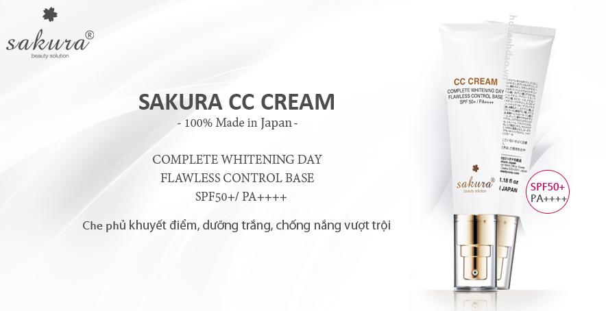 Sakura CC cream chứa các thành phần chiết xuất từ thiên nhiên