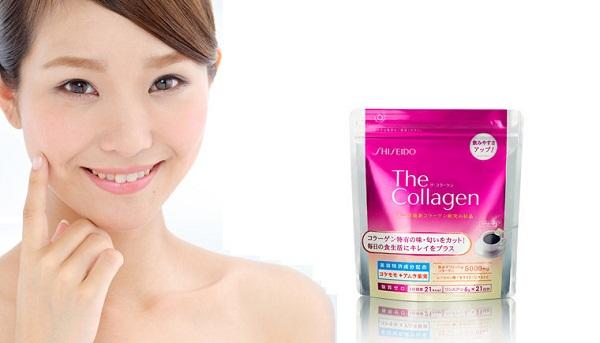 The Collagen Shiseido dạng bột giảm nếp nhăn, xóa nám và tàn nhang hiệu quả
