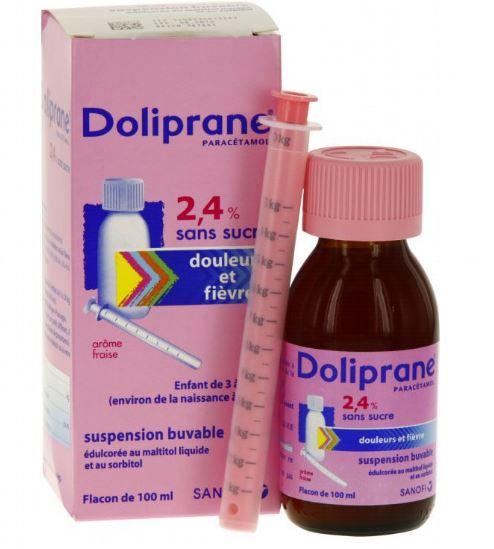 Thuốc hạ sốt Doliprane dễ uông với hương vị tự nhiên của các loại trái cây
