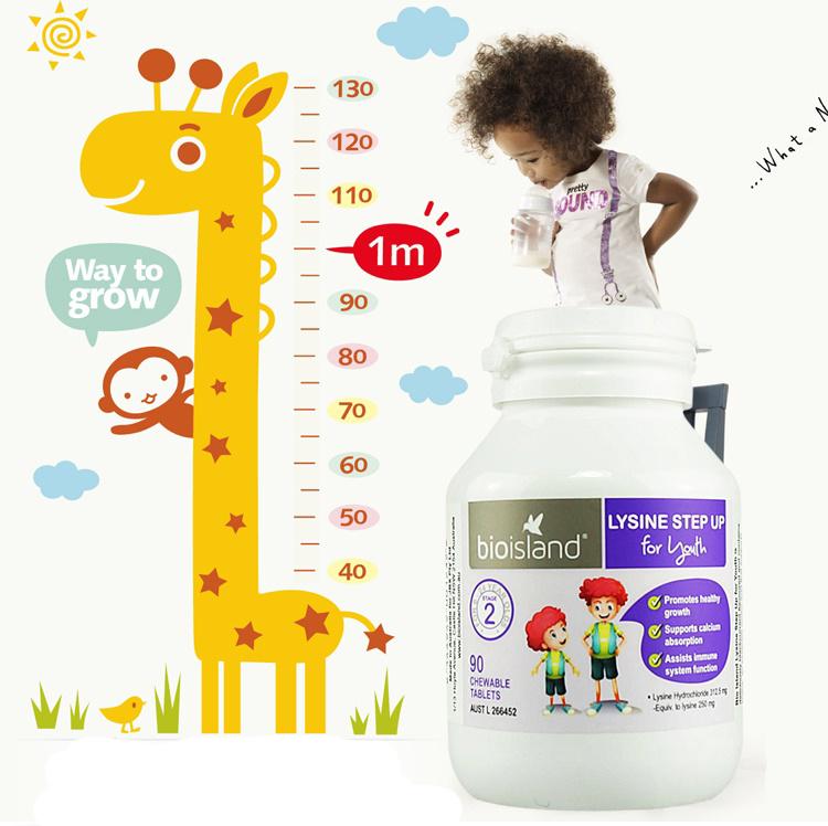 Viên uống Bio Island Lysine hỗ trợ trẻ tăng chiều cao (Úc)