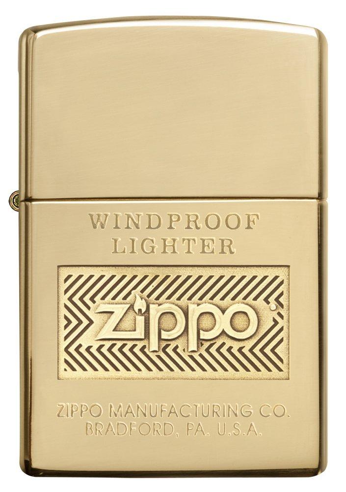 Bật lửa Zippo Logo Polish Brass Lighter 28145 thời thượng 1