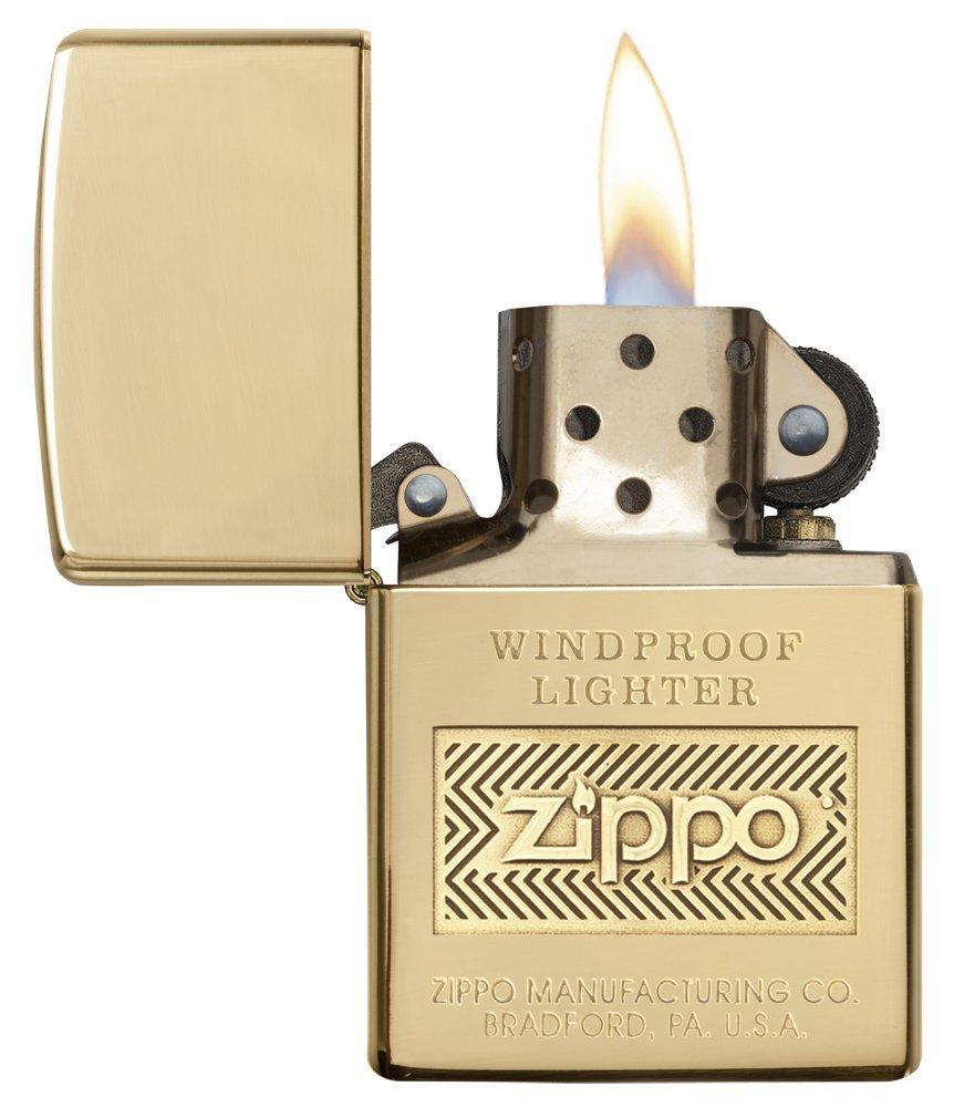 Bật lửa Zippo Logo Polish Brass Lighter 28145 thời thượng 2