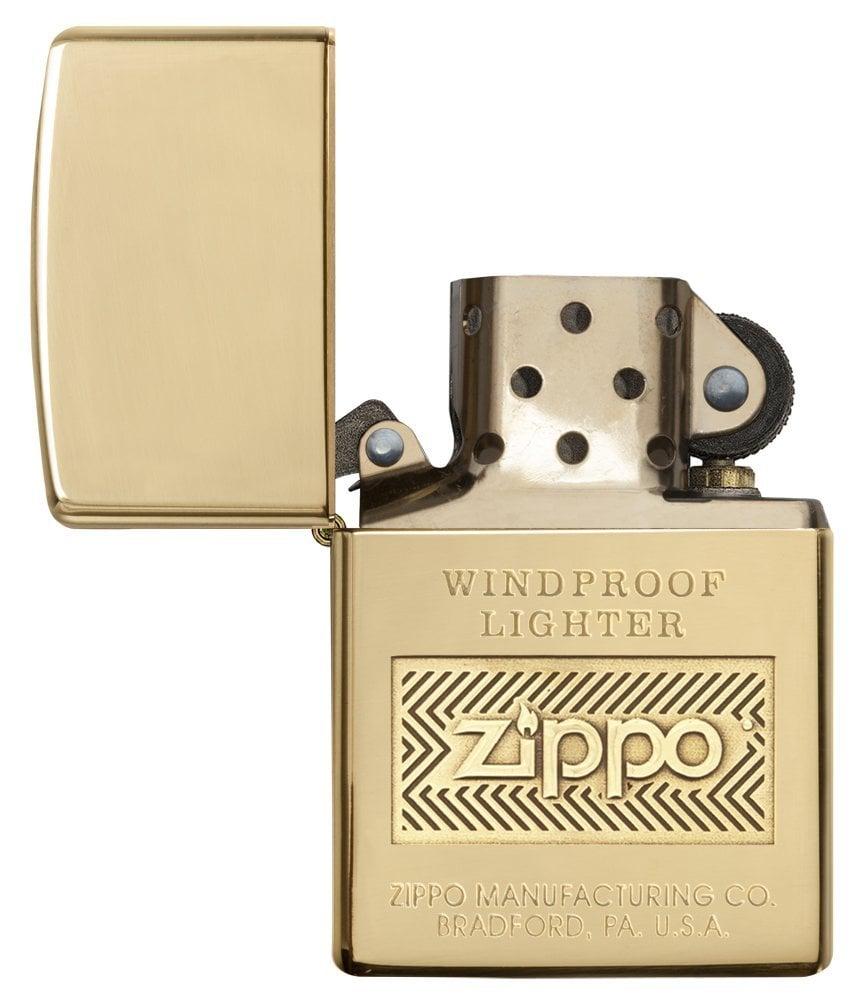 Bật lửa Zippo Logo Polish Brass Lighter 28145 thời thượng 4