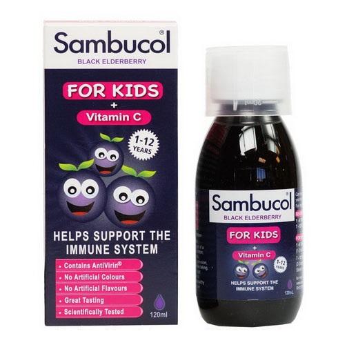Siro Sambucol For Kid tăng sức đề kháng cho trẻ từ 1-12 tuổi