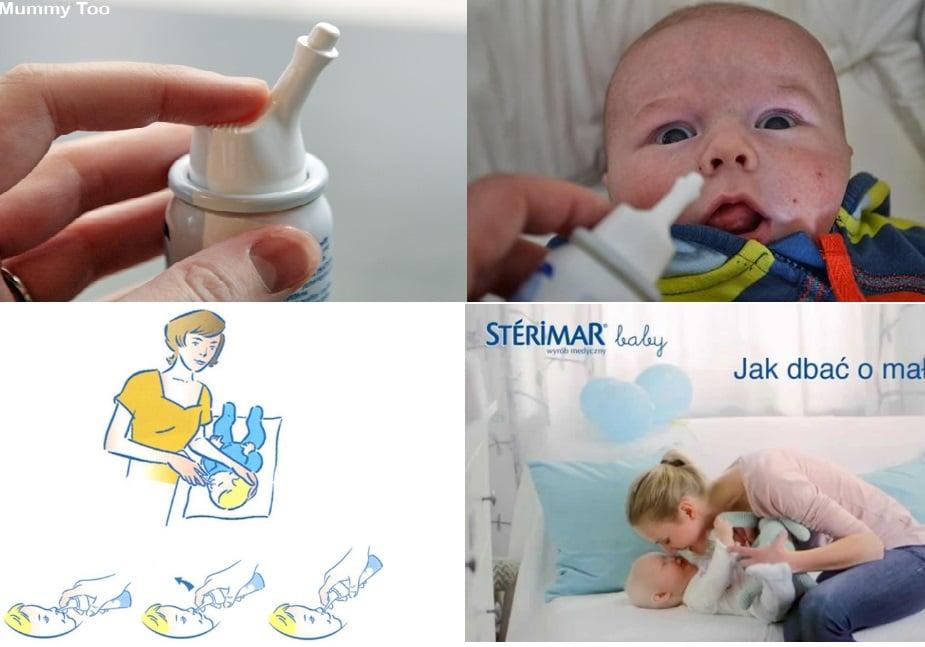 Cách sử dụng xịt muối Sterimar baby
