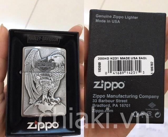Bật lửa Zippo 200HD.H231 chính hãng từ Mỹ