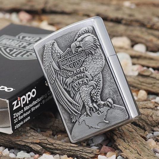 Bật lửa Zippo Classic Harley Davidson Eagle & Globe 200HD.H231 chính hãng