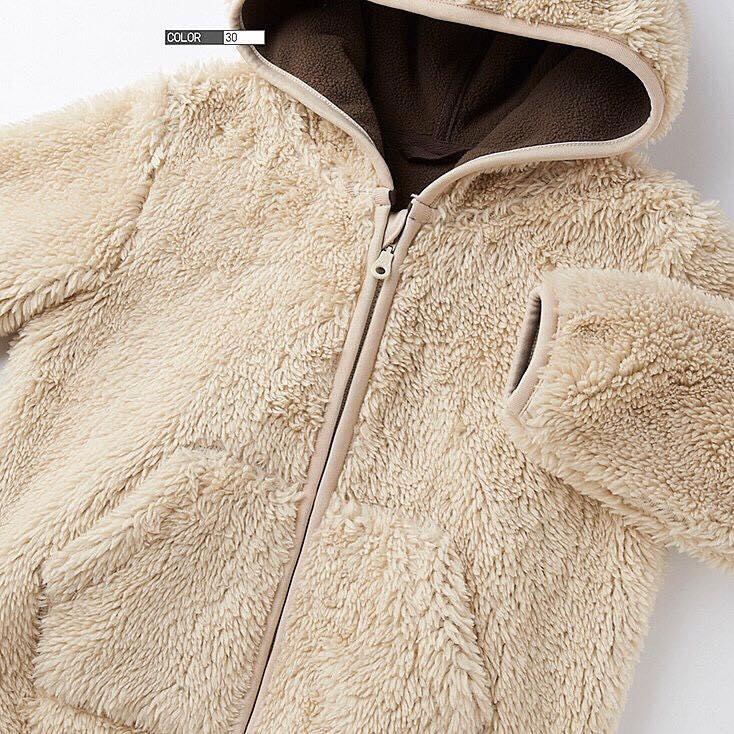 Áo khoác lông cừu trẻ em Uniqlo siêu mềm mại, ấm áp