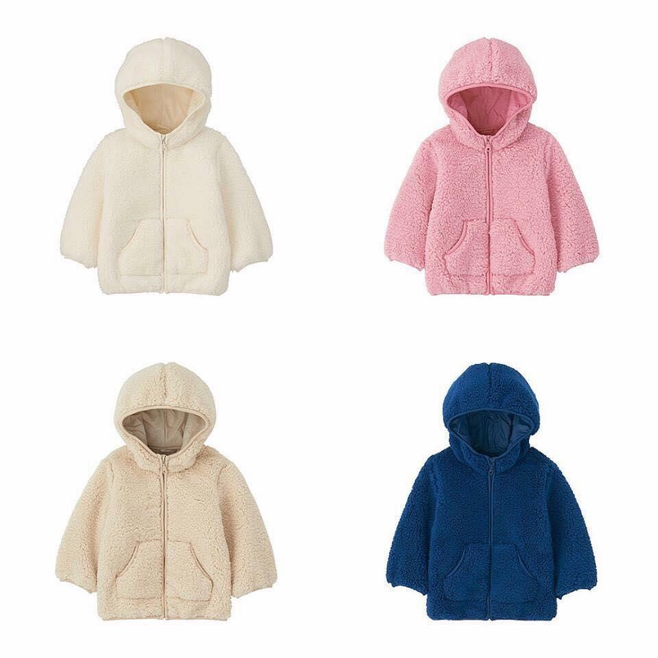 Áo khoác lông cừu trẻ em Uniqlo có 4 màu