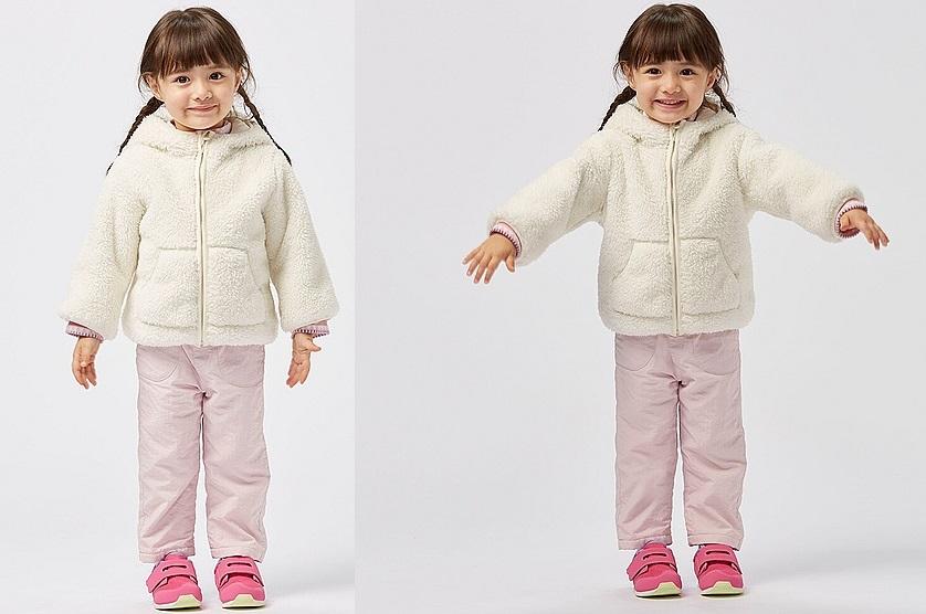 Áo khoác lông cừu trẻ em Uniqlo