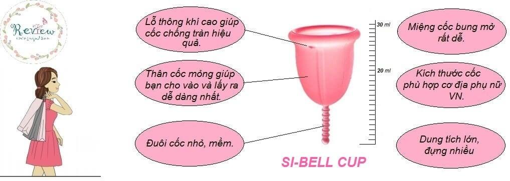 Cốc nguyệt san Si-bell an toàn và tiện dụng cho phái nữ 2