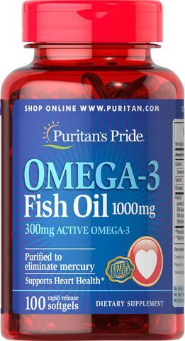 Dầu cá Puritan's Pride Omega 3 Fish oil 1000mg 100 viên  1