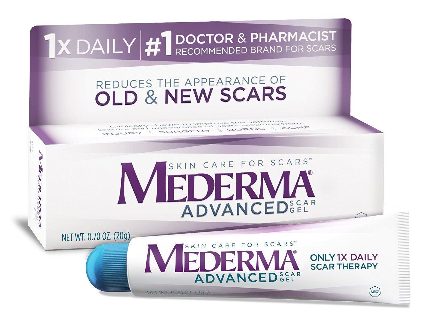 Mederma advanced scare gel là một loại kem trị sẹo hiệu quả của Mỹ được các bác sĩ chuyên khoa da liễu khuyên dùng
