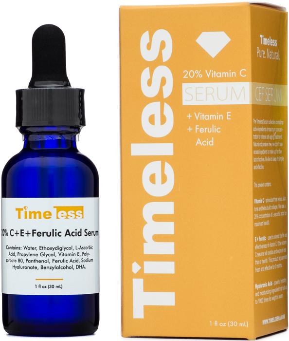 Serum Timeless 20% Vitamin C + E + Ferulic Acid trị thâm, chống oxy hóa và làm sáng da