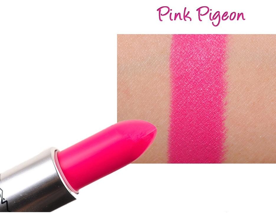 Son Mac Pink Pigeon màu hồng tươi sáng 2