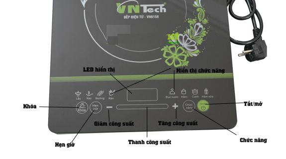 Chế độ nấu và bàn phím tiếng Việt dễ sử dụng