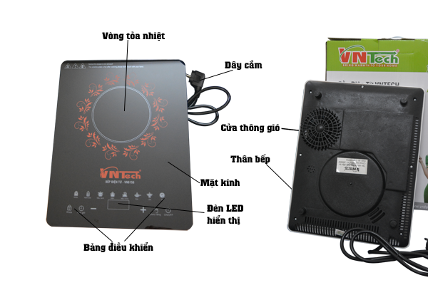 Bếp điện từ siêu mỏng cảm ứng VNTech VN 6156 1