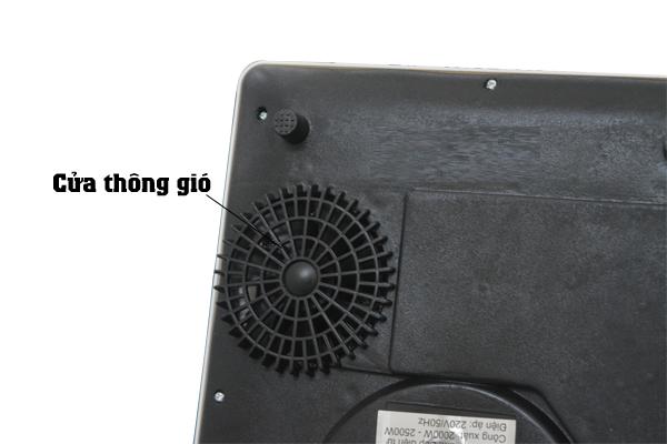 Quạt thông gió giúp phân bố và tản nhiệt tốt đảm bảo sự an toàn cho Bếp điện từ VNTech VN6156