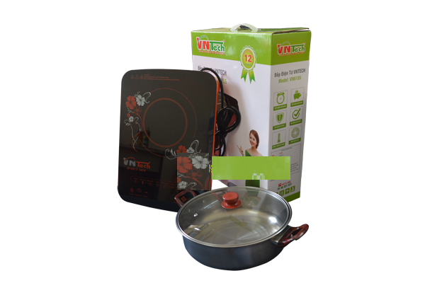Bộ bếp điện từ VNTech VN6155 kèm nổi lẩu