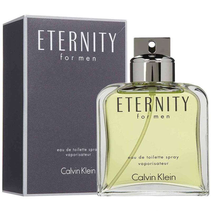 Nước hoa Eternity Calvin Klein (CK) kết hợp mùi hương đầy nam tính với bột cạo râu của Eternity