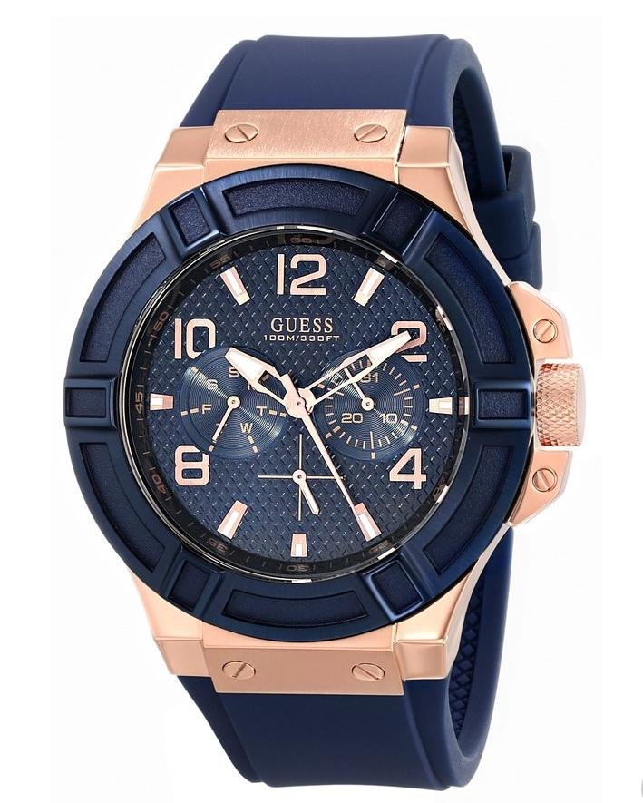 Chiếc đồng hồ Guess nam này được thiết kế với các chi tiết khỏe khoắn, nam tính