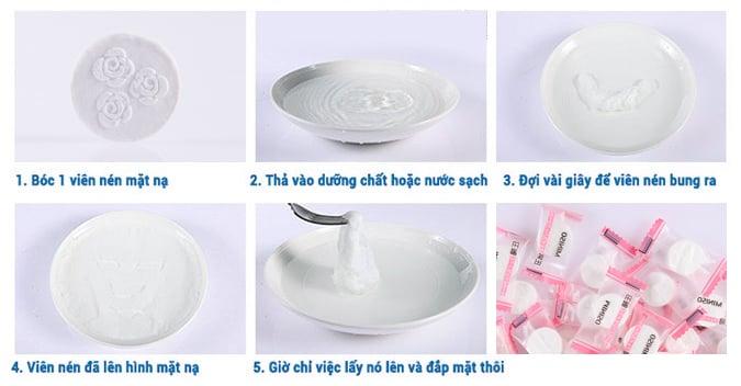 Cách sử dụng mặt nạ nén Miniso