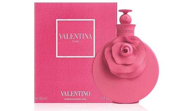 Nước hoa Valentino Valentina Pink thiết kế chai màu hồng nổi bật và ấn tượng