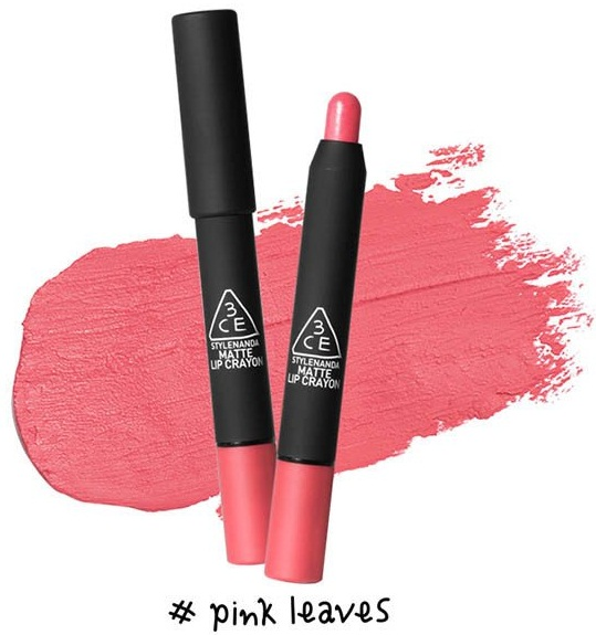Son 3CE Matte Lip Crayon dạng bút vặn tiện dụng 2
