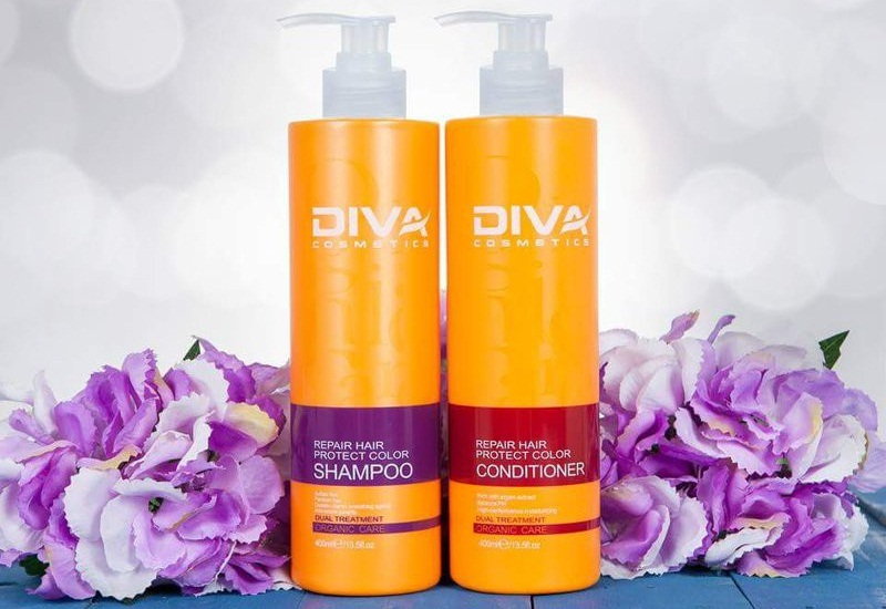 Cặp dầu gội xả Diva với công thức đột phá chứa thành phần giàu hữu cơ và thảo mộc tự nhiên