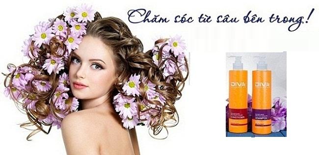 Cặp dầu gội xả Diva 400ml phục hồi và giữ màu tóc  3