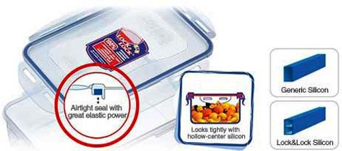 Gioăng silicone giúp hộp bảo quản thực phẩm Lock&Lock hoàn toàn kín hơi