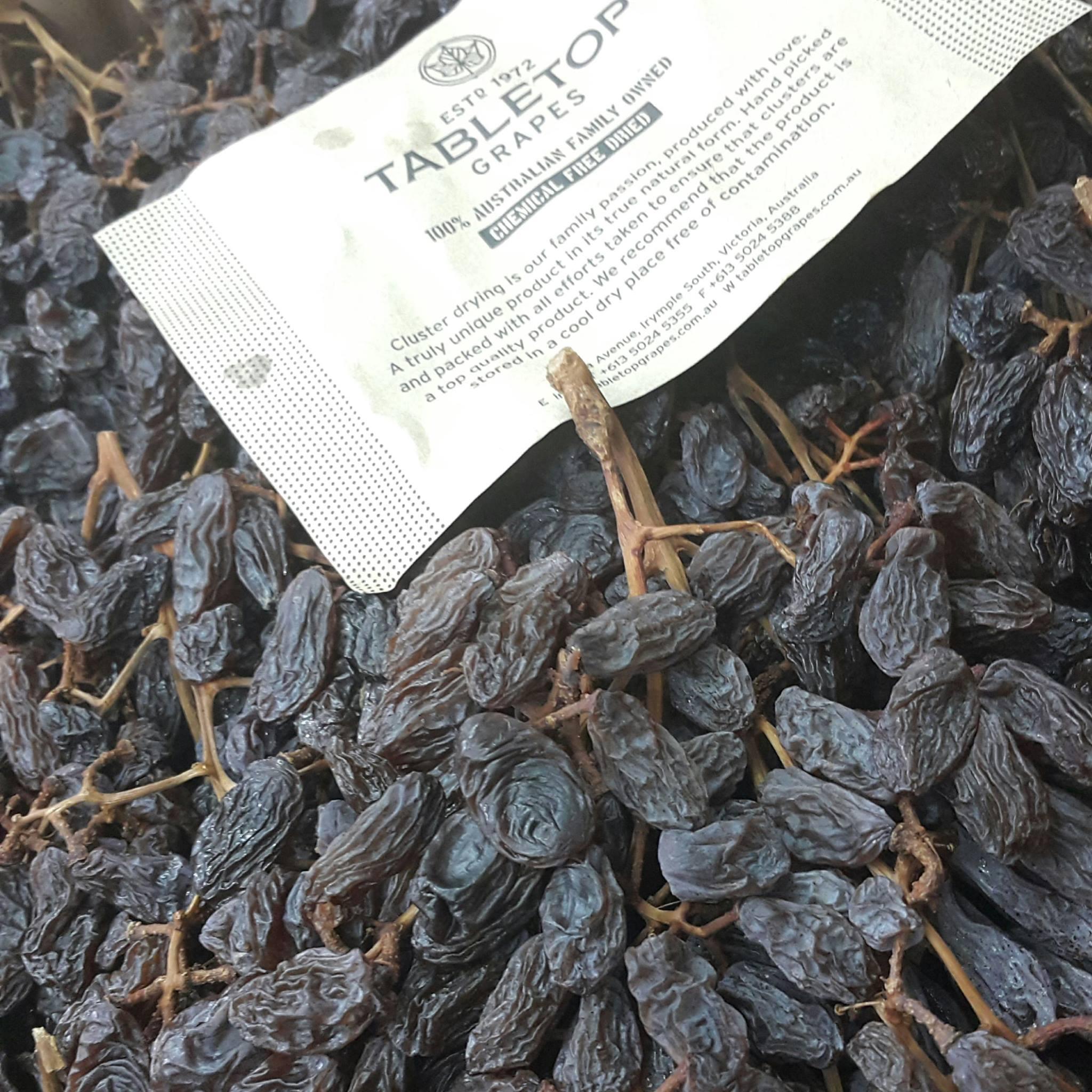 Nho khô nguyên cành TableTop Grapes được sản xuất và nhập khẩu trực tiếp từ Úc