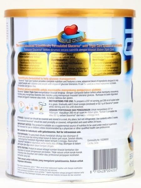 Thành phần của sữa dành cho người tiểu đường Glucerma