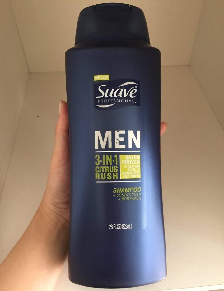 Dầu gội nam Suave Professionals Men 3 in 1 chai 828ml 2