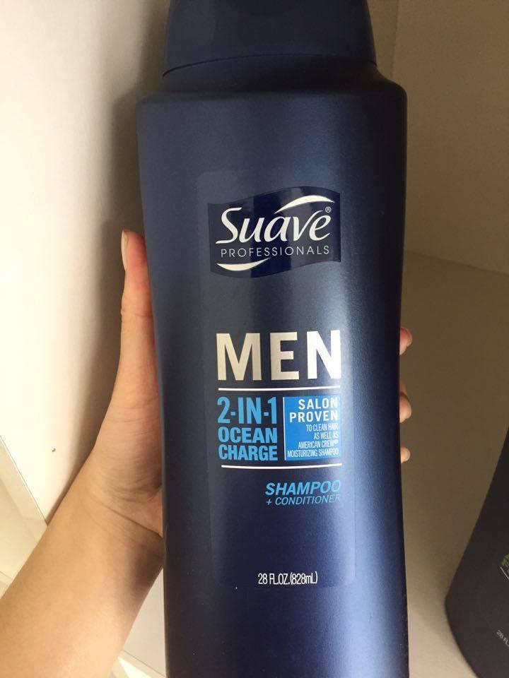 Dầu gội nam Suave Professionals Men 3 in 1 chai 828ml 3